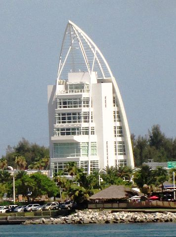 The Exploration Tower at 670 Dave Nesbit Drive in Port Canaveral, Florida