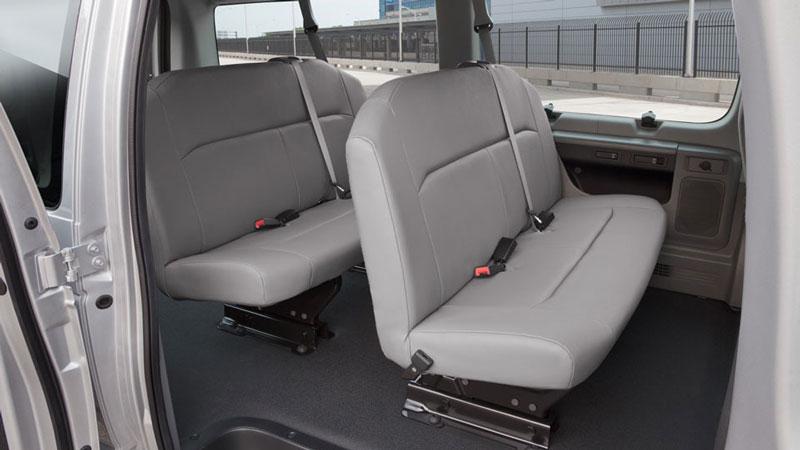 Inside a 12 Passenger Van