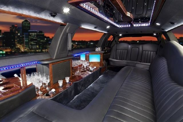 Inside a Lincoln Stretch Limousine