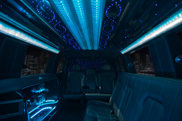 Inside a Excursion Stretch Limo