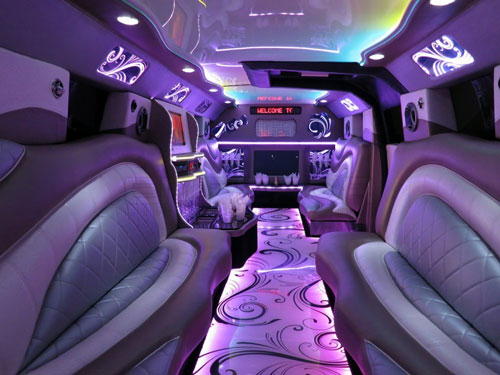 Inside a Suburban Stretch Limousine